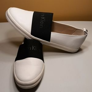 CALVIN KLEIN White Loafers Size 9.5 Womens